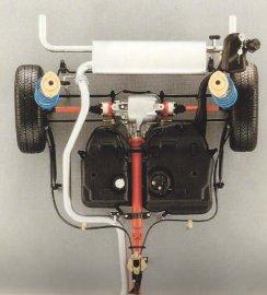Lancia Delta 4WD - Πίσω άξονας και αναρτήσεις