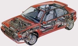 Lancia Delta Integrale Evoluzione - Μηχανικά μέρη