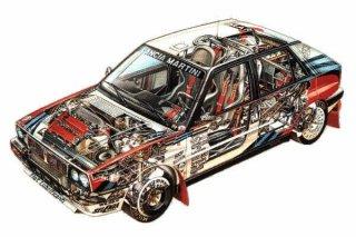 HF Integrale 16v Gr A - Μηχανικά μέρη